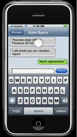 iPhone's Touch Screen Keyboard